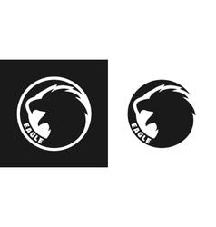 Silhouette of an eagle monochrome logo vector image