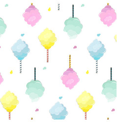 sweet cotton candy pattern cute food texture vector image
