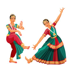 woman dancer in national indian cloth dancing vector image