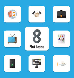 Flat icon oneday set of television cellphone vector