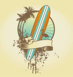 surf emblem vector image vector image