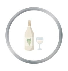 White wine icon in cartoon style isolated on white vector image