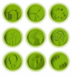 ecological icon set vector image vector image