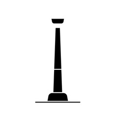 tower tv icon black sign on vector image