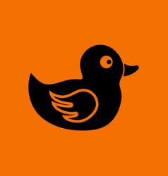bath duck icon vector image