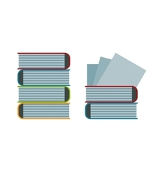Big stack of old antique books education vector image