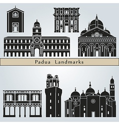 Padua landmarks and monuments vector image