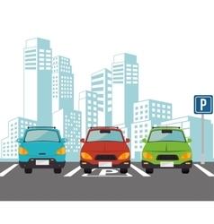 parking lot design vector image