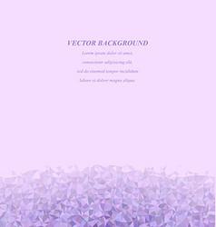 Purple triangle mosaic background design vector