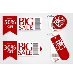 Sale card red promotion percentage retail vector image