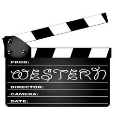 western movie clapperboard vector image