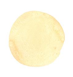 Abstract creamy latte brush stroke circle shape vector