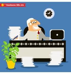 American boss at the desk vector