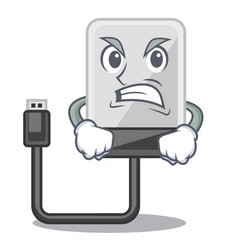 angry hard drive isolated on the characters vector image