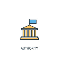 Authority concept 2 colored line icon simple vector