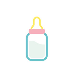 baby bottle icon design template isolated vector image
