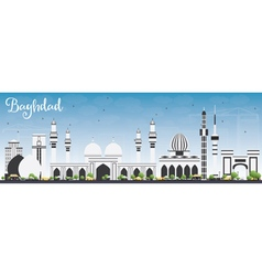 Baghdad Skyline with Gray Buildings vector