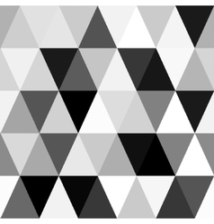 black and white abstract geometry pattern vector image