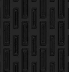 Black textured plastic double rectangles vector