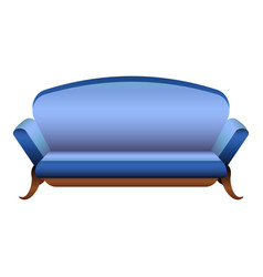 blue camel sofa icon cartoon style vector image