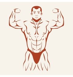 Bodybuilding and powerlifting Bodybuilder showing vector