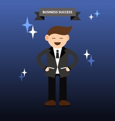 Businessman with business success infographic vector