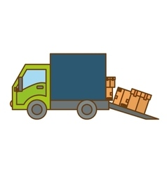 cargo or delivery truck icon image vector image