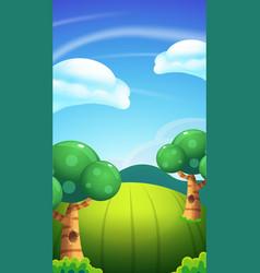 cartoon nature landscape bright sunny day vector image