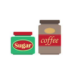 coffee and sugar vector image