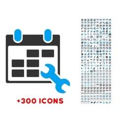 Configure Timetable Icon vector