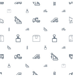 Crane icons pattern seamless white background vector