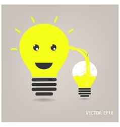 creative light bulb sign vector image