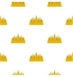 Crown pattern flat vector