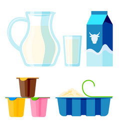 dairy milk products organic drink bottle healthy vector image