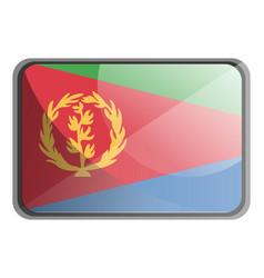 eritrea flag on white background vector image