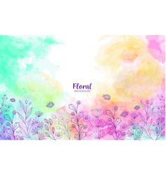 floral and colorful background design vector image