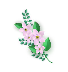 floral composition - branch vector image