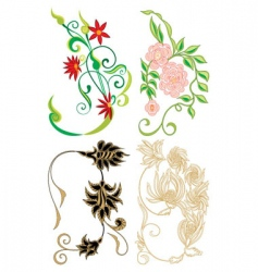 flower collection vector image