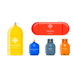 Gas cylinders set vector