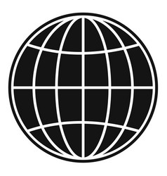 global icon simple style vector image