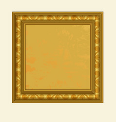 Golden square frame vector