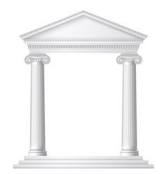 greek or roman temple vector image