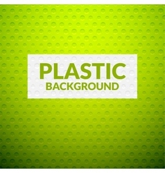 Green metal or plastic texture with holes vector image