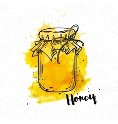 Hand drawn Honey bank vector image
