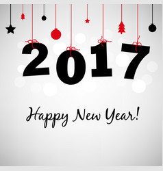 Happy new years card 2017 vector