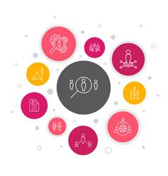 Human resources infographic 10 steps bubble design vector
