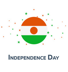 Independence day of niger patriotic banner vector
