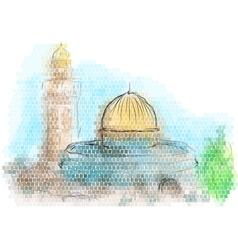 jerusalem vector image
