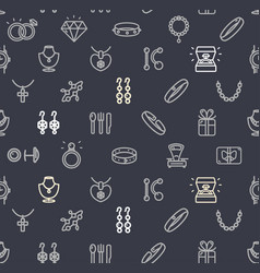 jewelry signs seamless pattern background on a vector image