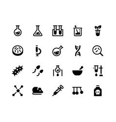 laboratory glyph icons vector image